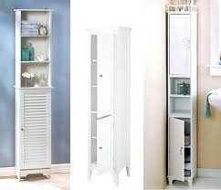 Bathroom Tower Shelves Gorgeous Bathroom Tower Storage White Cabinets With Pulls Narrow