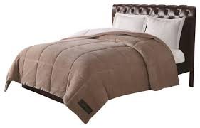 Solid Beige Comforter Remington Ultra Velvet Solid Tan Comforter Transitional