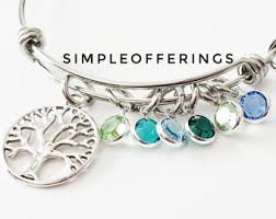 mothers bracelet tree of bracelet etsy