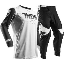 Thor 2017 Mx New Prime Fit Jersey Pants Rohl Black White Lite