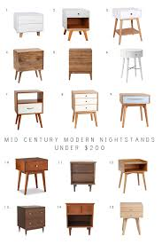 Mid Century Nightstands Mid Century Modern Nightstands Under 200 Brepurposed