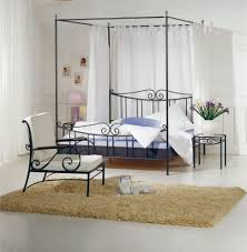 Iron Canopy Bed Bedroom Wrought Iron Canopy Bed King Size Iron Bed Black Wrought