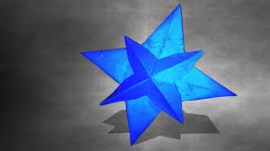 How To Make A 3d Paper Star Christmas Crafts Simple 3d Paper