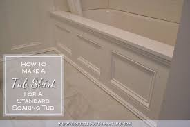 Paint For Bathtubs Diy Tub Skirt Decorative Side Panel For A Standard Apron Side