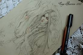 snow princess sketch wip by enysguerrero on deviantart