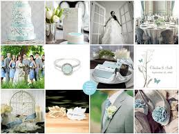 love bird spring wedding theme in powder blue and grey things