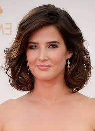 short loose wave hairstyle cobie smulders short brown loose wavy curly bob hairstyle