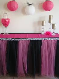 black tulle table skirt sponsor love bailey had a party