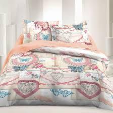 vintage love 100 cotton bed linen set duvet cover u0026 pillow