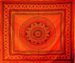 Sofa King by Xl Orange Black Geo Mandala Sofa King Double Bed Cover Bedspread