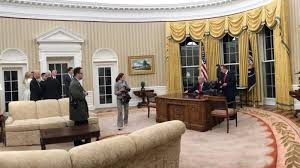 oval office decor trump brings his love for gilded decor to oval office