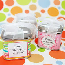 wedding favor containers personalized square birthday favor tins