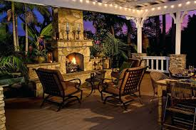 fireplace romantic faux stone outdoor fireplace for home design