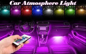 Led Light For Car Interior Amazon Com Ficbox Upgraded Multi Color 48 Leds Car Interior