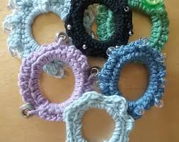 scrunchie boo boo crochet hair tie etsy