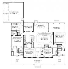 house plans with 2 master suites bedroom delectable one story house plans with two master