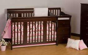 Black Convertible Crib by Bedroom Terrific Charming Black Crib Changer Combo With Drawers