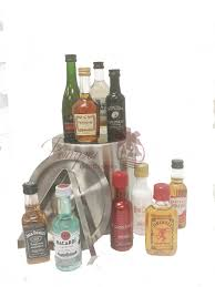 premium mini bar liquor gift basket by pompei baskets
