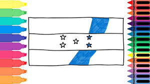 how to draw honduras flag drawing the honduran flag coloring