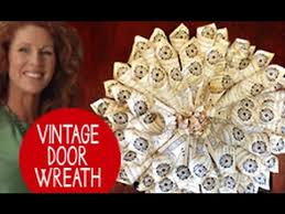 Christmas Decorating Wreath Old Book Pages by How To Make A Door Wreath Using Old Books Youtube
