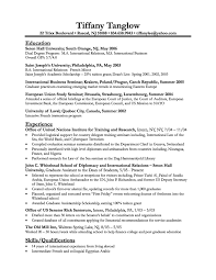 Example Of Student Resume by Example Of A Graduate Student Resume Templates