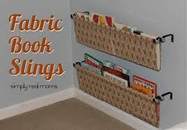 Fabric Sling Bookshelf Simply Made Sunday Fabric Book Slings