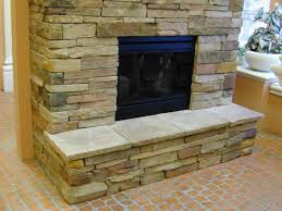 stone veneer fireplace hearth ideas stacked panels stones stack