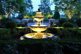 outdoor water features with lights outdoor water fountain lights unusual design ideas 15 wilmingtons