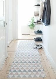 Deko Blau Interieur Idee Wohnung Läufer Auf Dem Holzboden Im Flur U2026 Pinteres U2026
