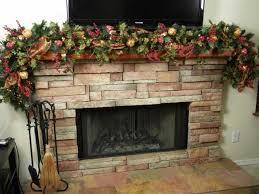 fireplace decorations tree decorating ideas