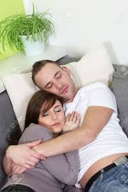 Free Hug Sofa by Young Couple Arm In Arm Lies Sleeping On A Sofa Stock Photo