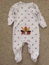 carters my 1st thanksgiving pajama turkey print sleepwear