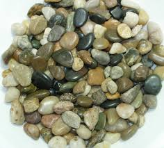 Vase Rocks Multi Color River Pebbles Natural Colors Decorative Vase