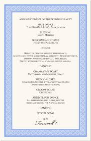 wedding agenda templates wedding agenda templates europe tripsleep co