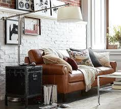 Leather Sofa Bed Australia Stupendous Pottery Barn Leather Sofa For House Design U2013 Gradfly Co