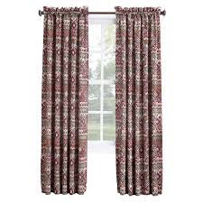 brick aztec pole top curtains 84 in at home at home