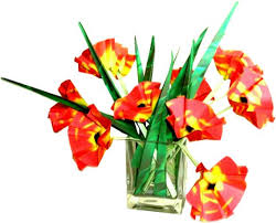 Clipart Vase Of Flowers Joost Langeveld Origami Page