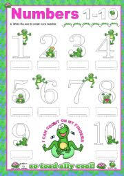 english teaching worksheets numbers 1 10