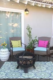 Hampton Bay Outdoor Fireplace - warm weather ready patio
