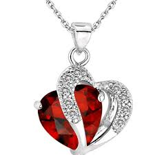 crystal heart pendant necklace images Beautiful falling heart pendant necklace penny and flynn jpg