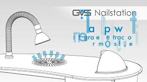 gvs nailstation manicure table with molecular filtration youtube
