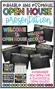 House Essentials by Editable Open House Presentation Essentials Chalkboard Brights