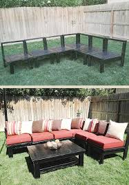 Outdoor Wood Sectional Furniture Plans by 15 Diy Outdoor Pallet Sofa Ideas Diy And Crafts