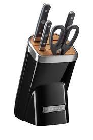 kitchen aid knives kitchenaid knife block 5 onyx black kkfma05ob myer