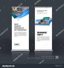 Website Design Ideas For Business Vector Set Modern Roll Banner Stand Stock Vector 481604218