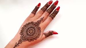 intricate mandal bridal henna tattoo design beautiful and simple