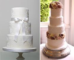 wedding cake trends pearls lace and peonies