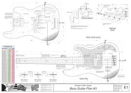 bass guitar plans 3 electronic version georgia luthier supply