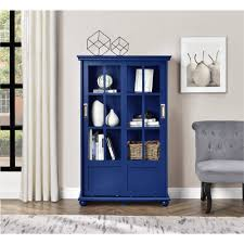 Altra Bookcase With Sliding Glass Doors by Altra Aaron Lane Bookcase With Sliding Glass Doors Soft Gray