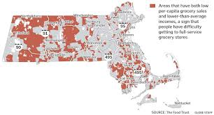Map Of Mass Want Healthy Food In Much Of Mass It U0027s Hard To Get The Boston